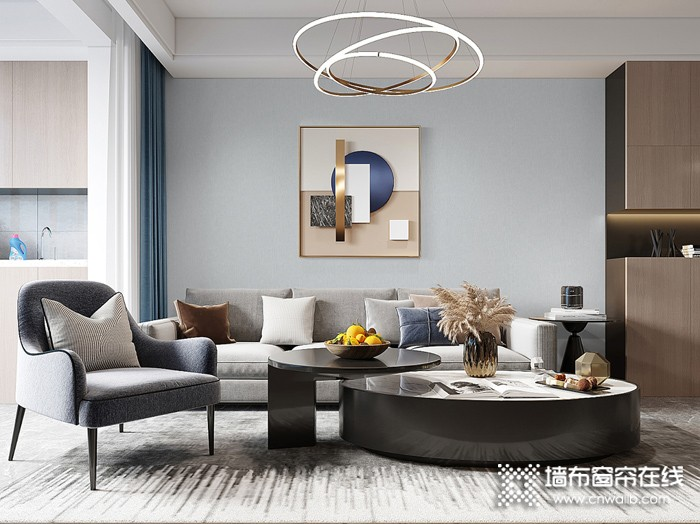 可罗雅墙布最新装修图片,客厅背景墙效果图