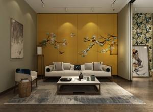 可罗雅墙布新中式风格图片,新中式背景墙效果图