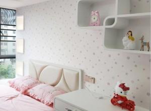 可罗雅墙布卧室背景墙实景装修图片