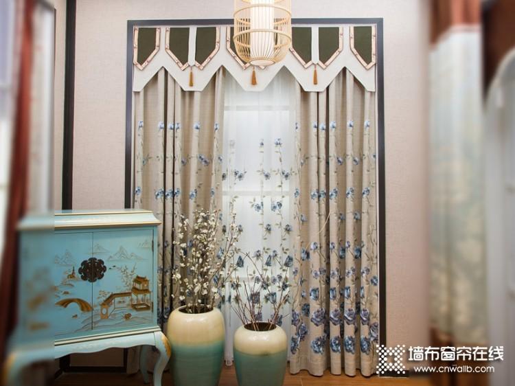 兰芝窗帘中式风格装修效果图