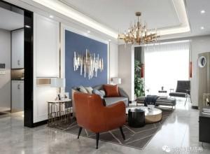 领绣刺绣墙布图片,现代轻奢风格客厅装修效果图