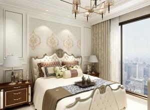 莱丽莎壁布效果图,新丝绸系列卧室背景墙装修衅