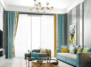 欧派窗帘图片,客厅现代风格窗帘效果图