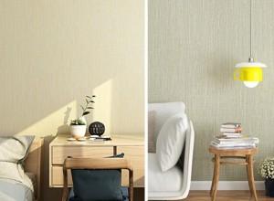爱舍墙纸简约素色装修效果图