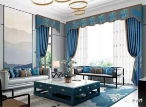 爱漫时窗帘新中式风格窗帘效果图