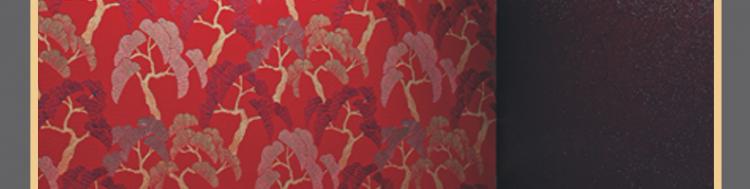 蝶装壁布窗帘招商海报