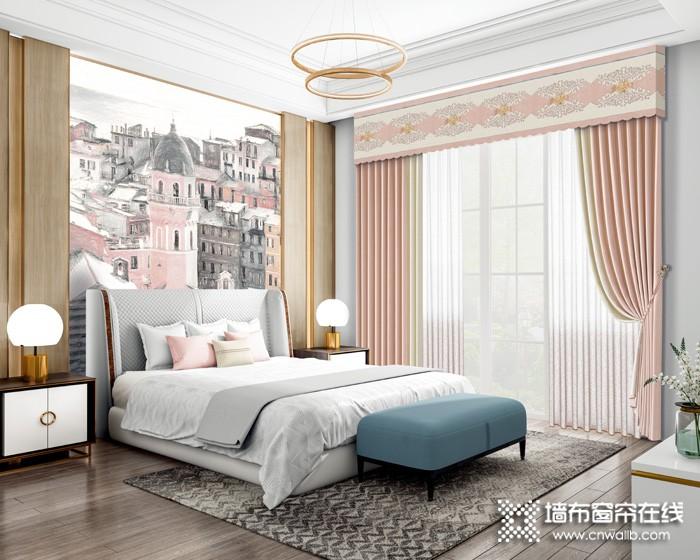 布之美窗帘田园风卧室窗帘装修效果图