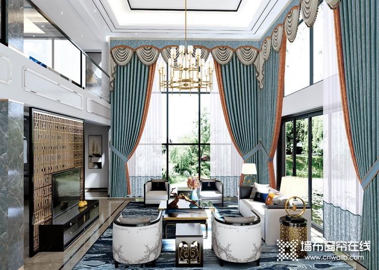 环美空间窗帘中式风格客厅装修效果图
