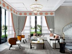 环美空间客厅窗帘-宿居