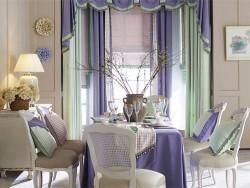 依依布舍窗帘-现代浪漫紫+薄荷绿