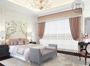 伊伊布舍窗帘效果图,美式风格窗帘客效果图