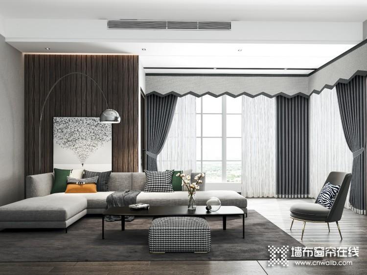 城市客厅窗帘图片,客厅现代简约风窗帘装修图