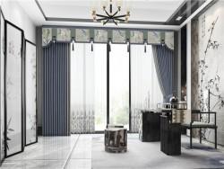城市客厅窗帘-143-1.翠袖玉竹