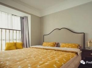 普悦缇墙布美式风格效果图,卧室墙布装修图