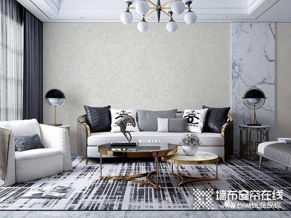普悦缇墙布轻奢之风,客厅装修效果图