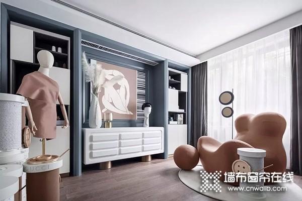 丽绣云感亲肤墙布:轻奢风格 极具气度的设计