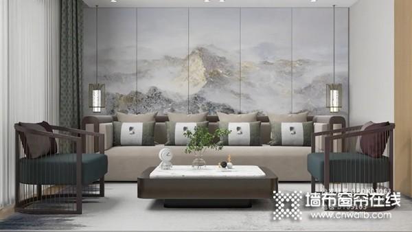 欧派高端软装新中式背景墙推荐 创新现代东方新时尚