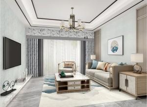 欧雅壁纸新中式风格客厅装修图,客厅效果图