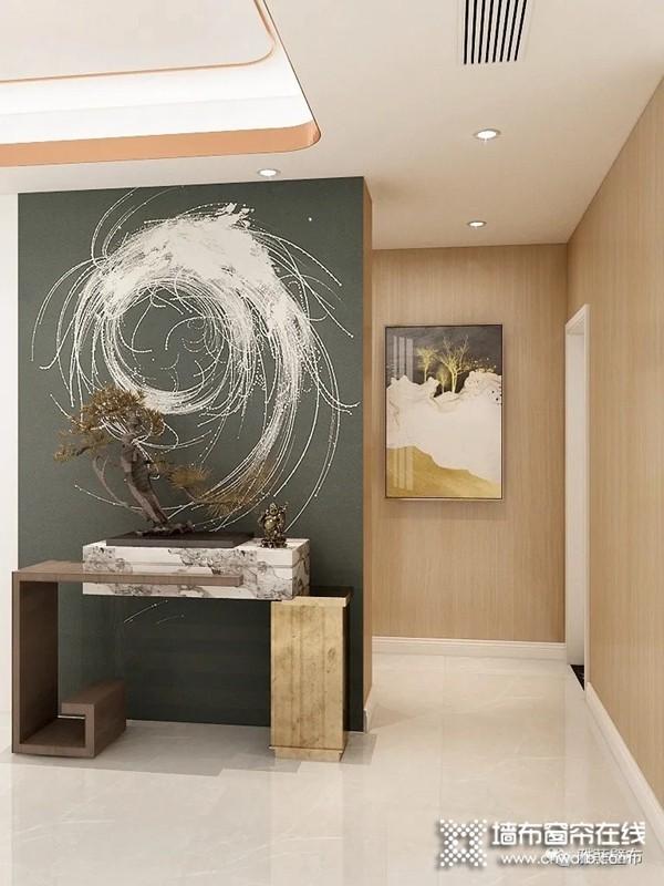 雅菲壁布新品独幅《流荧》系列效果图