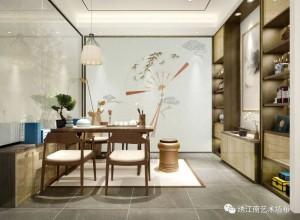 绣江南艺术墙布新中式风格装修效果图