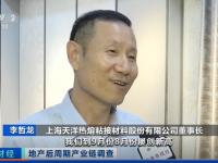 天洋董事长李哲龙先生接受央视财经频道采访:墙布焕新是未来的大趋势