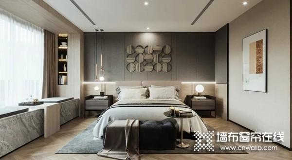 莺牌艺术墙布:棕深色系墙布,给予美的最好表达