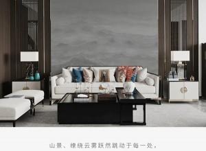 可罗雅墙布独幅新品系列八产品效果图