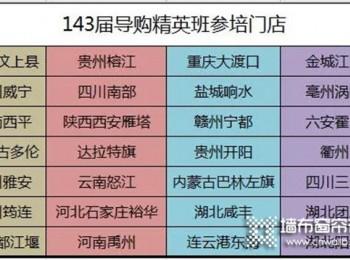 如鱼得水窗帘:第143届导购精英班,28家门店51位同学顺利结业啦!