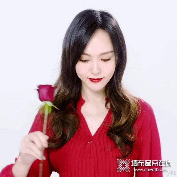 红宝石墙布续约影视巨星唐嫣任全球品牌代言