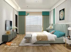 美居乐负氧离子窗帘卧室装修效果图
