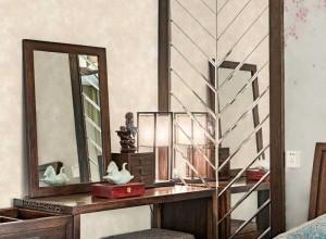 领绣刺绣墙布年轻范儿的中式风装修效果图