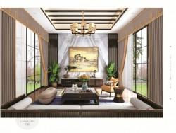 兰客厅窗帘-长城之家-南韩丝系列