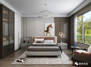 御秀软装效果图,轻奢风络装修图之卧室