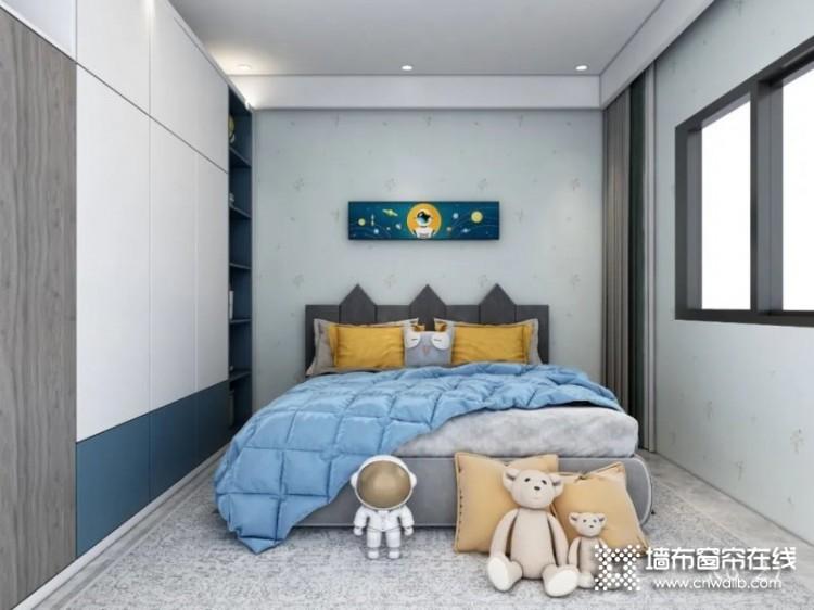 雅菲壁布儿童房装修效果图,三胎时代来临