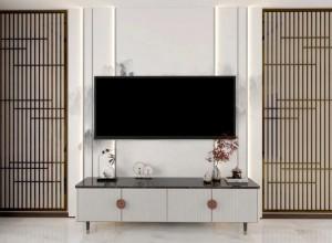 天衣无缝热烫墙布115平米新中式风格装修图