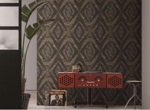 朵薇拉墙布轻奢风格产品效果图,背景墙装修图