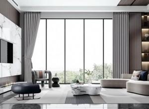 雅琪诺软装窗帘系列浮光跃金产品效果图