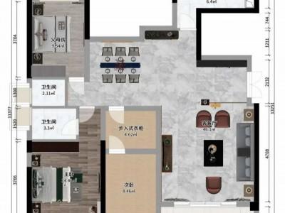 中式=老气 这套100平新中式每一寸空间都美得很高级