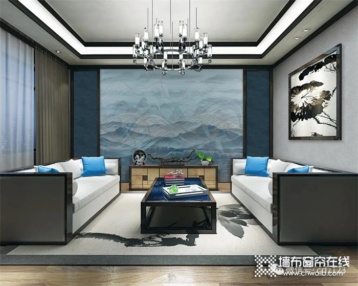 玉麒麟墙布:新中式+轻奢,用墙布打造绝美的生活空间