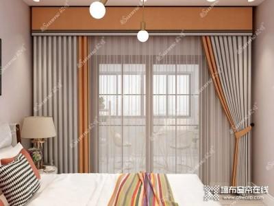 欣明精品窗帘 窗帘这样装,视觉效果明显放大