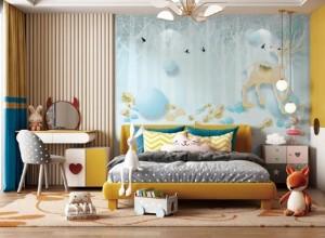 莱丽莎壁布背景墙效果图,有这样的背景,家才有主题