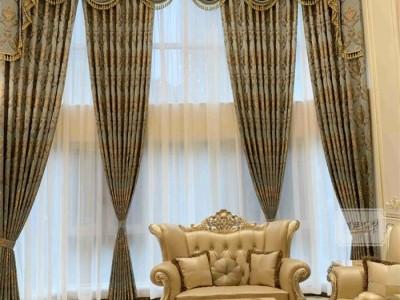 别墅有高窗,如鱼得水这样装的窗帘才是豪宅标配!
