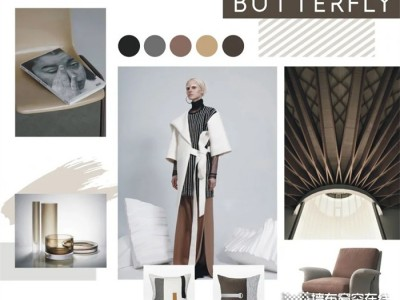 蝶装壁布 | 色彩与纹理,便是绝美自然印迹